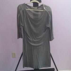 All Saints Embellished 3/4 sleeve jersey dress